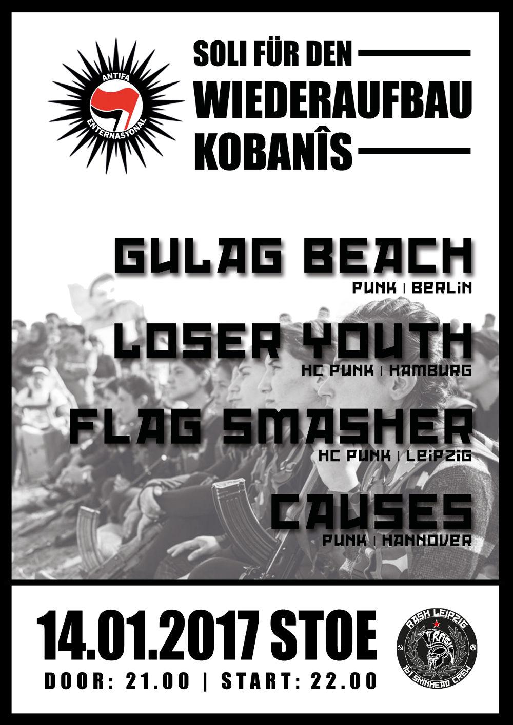 Solikonzert für den Wiederaufbau Kobanes in der Stoe, Leipzig